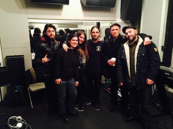 Yours truly in NYC attending a metal guitar rhythm masterclass hosted by Christian Andreu (center) of the mighty french metal band Gojira.