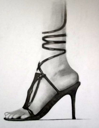 Ladies Foot - Drawing by Ron Floyd