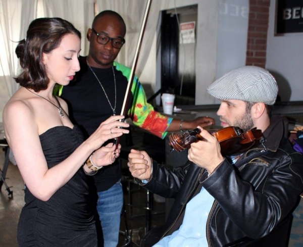 Impromptu violin lesson on the set of a video I was shooting! (this one: https://www.youtube.com/watch?v=0sj5W2nBcuo )