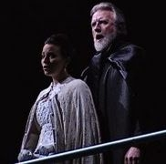 "Jessica Medoff as Judith and Gregory S. as Bluebeard in the UC Davis Symphony's filmed ""Duke Bluebeard's Castle"" at the Mondavi Center"