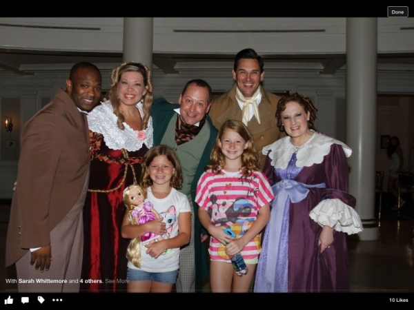 Posing with fans at Epcot.
