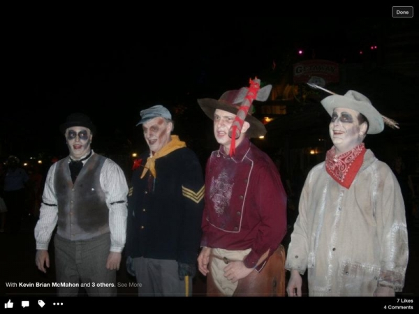 Singing tenor with The Cadaver Dans at Walt Disney World.