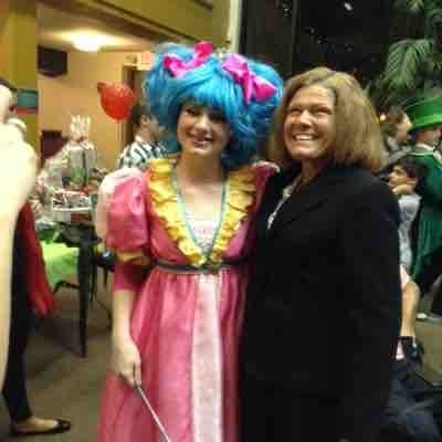 """My student Sophie, starring as """"Glenda"""", in """"The Wizard Of Oz"""", at The Orlando Rep."""