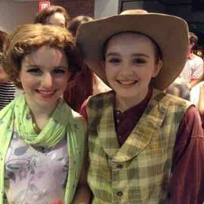 "Students Maddie and Haley performing in The Rep 's production of ""Crazy For You""."
