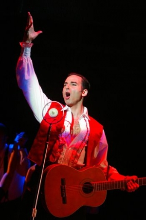 "As Magaldi in the 25th Anniversary Broadway National Tour of ""Evita"".  Directed by Harold Prince"