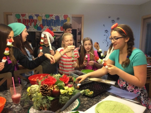 Girls Night In Cooking Class for Makenna's 13th Birthday.