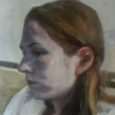 Portrait of Kaitlyn, oil on Panel