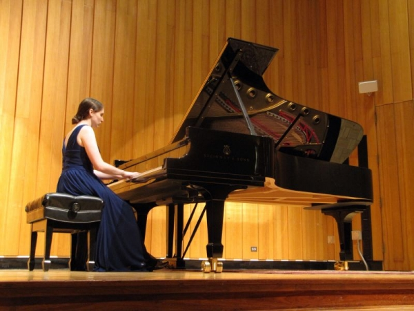 Playing in my Masters Recital at Miami University