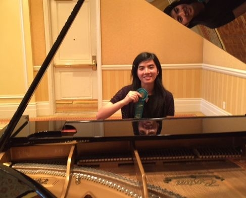 At MTAC 2015 Convention, Joyce L., Advanced Honor student received a ribbon for her performance.