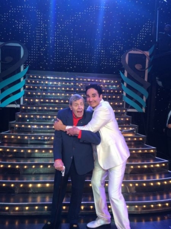 With Jerry Lewis after performing as Dean Martin in Las Vegas!