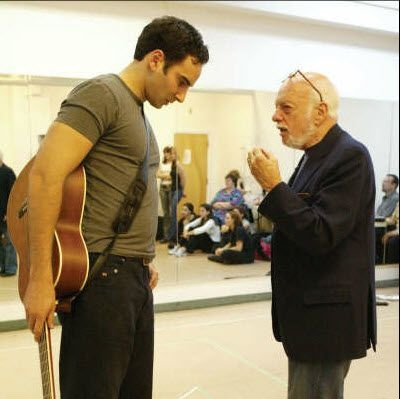 Harold Prince Giving me direction in his Production of EVITA on Broadway.