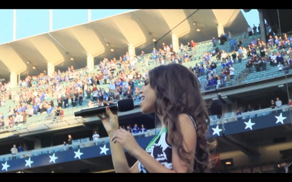 National Anthem performance at Dodger Stadium on May 15, 2015 at the LA Dodgers vs. Colorodo Rockies game.