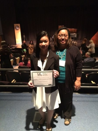 Student, Jean R. performed at CAPMT State Convention 2015, California State Univ. Los Angeles
