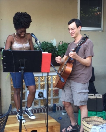Duet with local singing sensation Bethlehem. Weaver's Way's weekly local music and food event, Mount Airy, PA