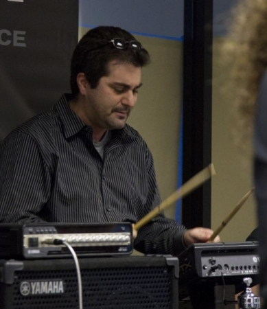 Playing electronic percussion pad