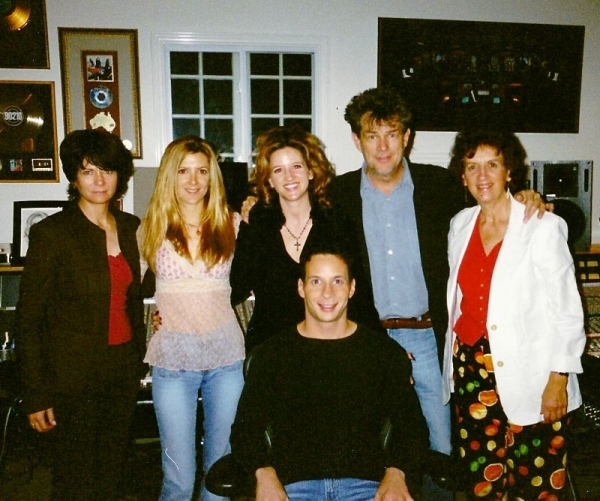 Dan and Family with David Foster and James Foster in David's studio in LA.