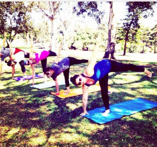 Yoga in the Park- All ages and levels welcome- Half Moon Pose