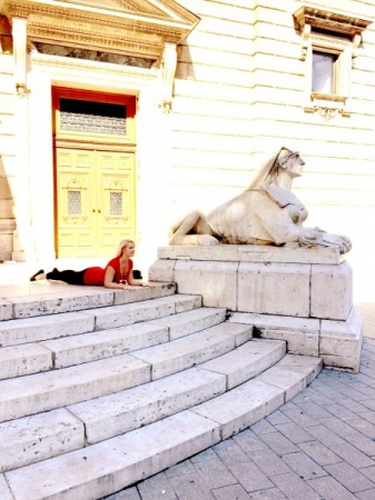 World Travel- Sphinx Pose