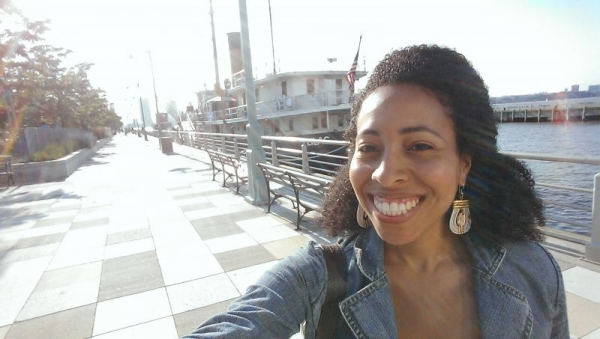 Out and about in New York City's dock areas, I love being by the water!