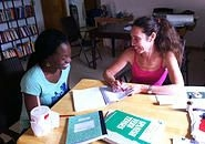 Carina tutoring at her home