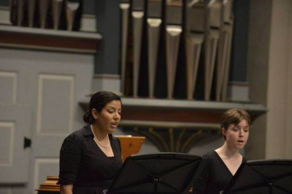 Performing at Christ the King Lutheran Church with Bach Society Houston, Spring 2015