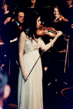Performing Sibelius Violin Concerto with the Quincy Symphony Orchestra