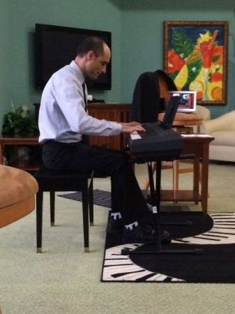 Performing at Ampersand Music Studio LLC Recital Fall 2014