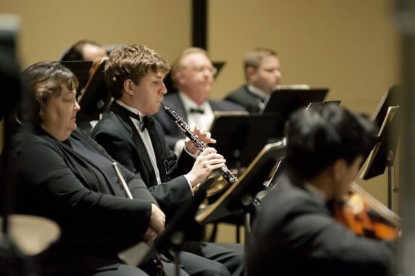 In performance as Principal Oboist of the Rapides Symphony  Orchestra