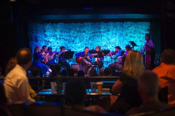Live at The Abbey, Orlando 2015. With the New Score Chamber Orchestra. Performing guitar concerto.