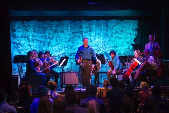 Live at The Abbey, Orlando 2015. Performing guitar concerto with the New Score Orchestra