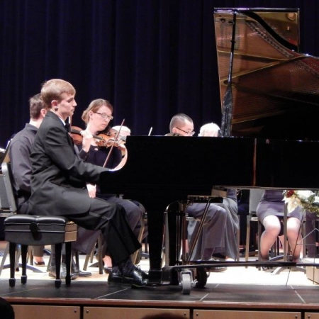 Performing the Grieg Piano Concerto with the West Seattle Symphony