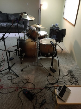 It's a pretty sweet gig when someone shows up at your rehearsal space, with a remote studio, and pays you well for your time.
