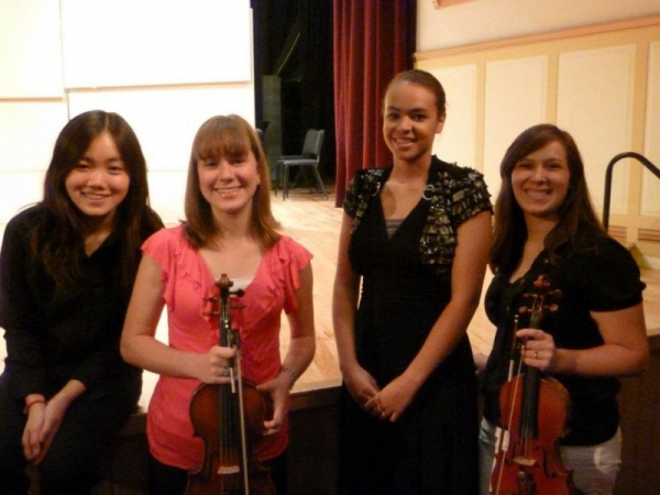 Illinois Wesleyan Chamber Music Festival, July 2010 Myself pictured with a student group I coached
