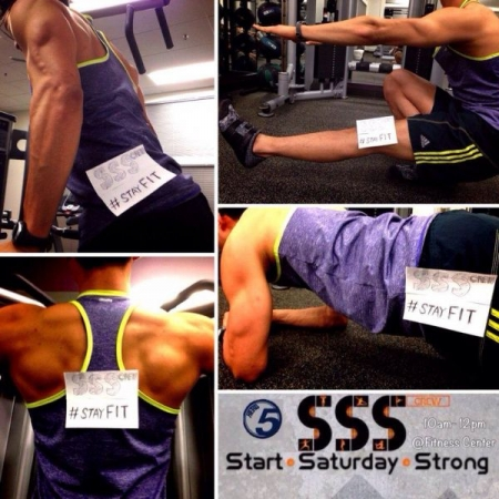"""Start Saturday Strong"" - This is the exercise group that I started for students living on campus! HIIT!"