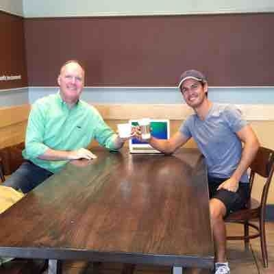 Off location with Gus from Brazil in Starbucks (2015)