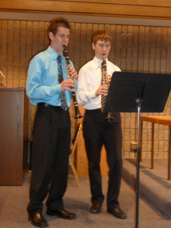 My brother Todd and I playing at a recital