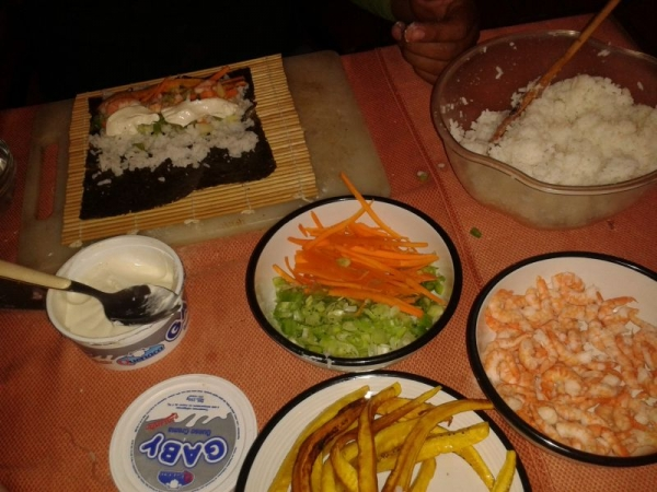 all the ingredients for a good sushi