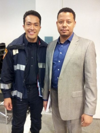 Guest spot on Empire with my scene partner, Terrance Howard. November 2014