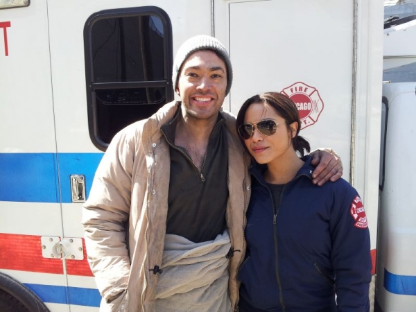 It's a wrap! On set of Chicago Fire. April 2013