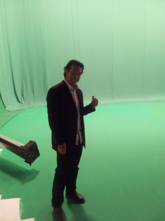 In between takes for a national commercial for Kelley Blue Book. October 2013.