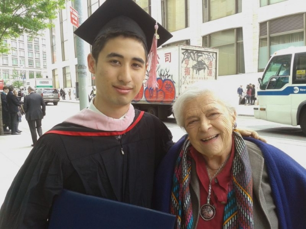 My inspiring coach Sylvia Rosenberg at Juilliard graduation.
