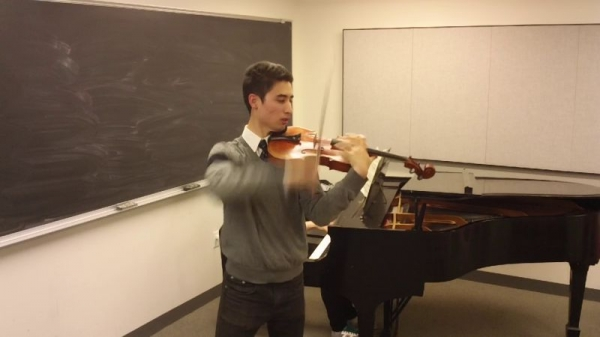 Recording session at Juilliard