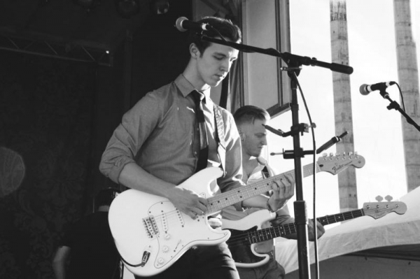 Me performing with my band, The Perks.