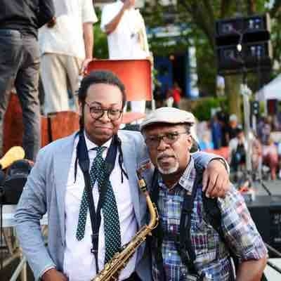 With a student at a Jazz Festival in NY