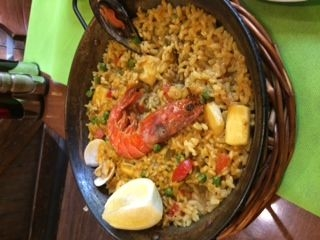 My favorite meal in Barcelona-Paella!!!