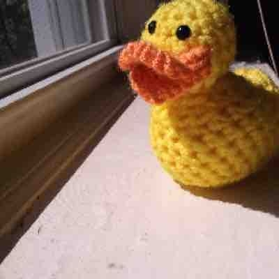 Rubber Ducky I Crocheted