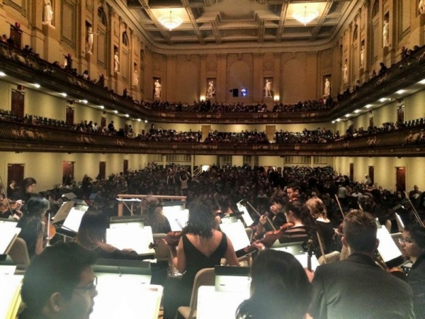 Performing at the Boston Symphony Hall