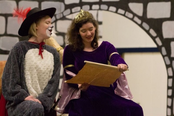 """As """"Princess"""" in University of Oregon Opera Ensemble's production of """"Puss in Boots"""", an elementary school outreach performance."""