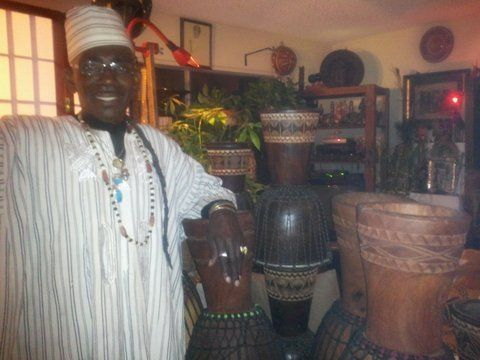 Nana Obrafo Yaw Asiedu can accommodate up to 75 people at on time for a Drum Workshop.