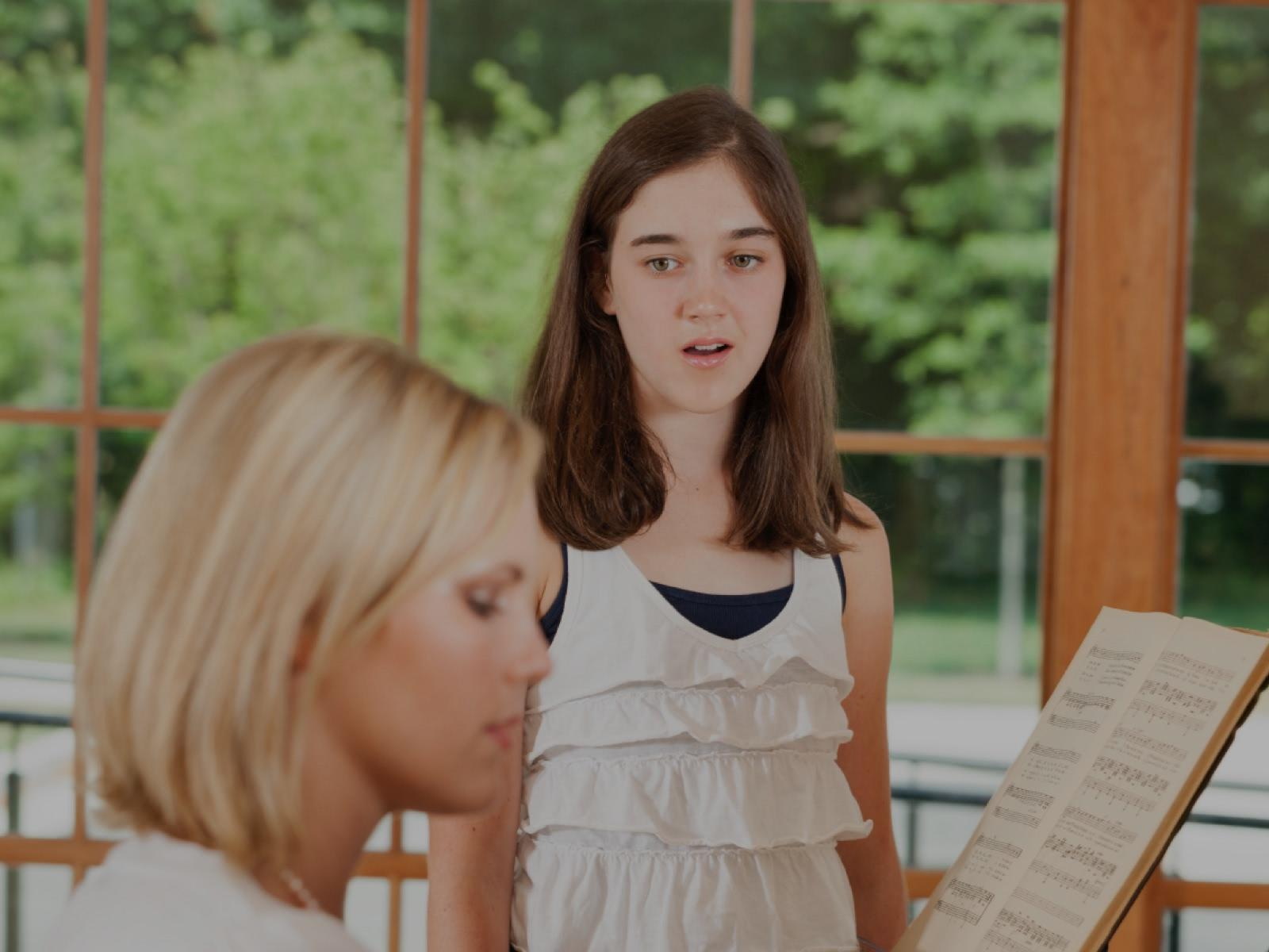 Picture of classical voice lessons in Flower Mound, TX